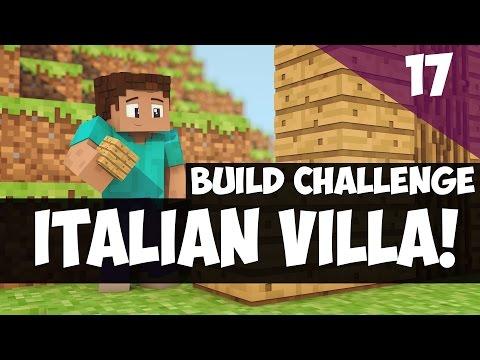 Minecraft Building: ITALIAN VILLA Build Challenge! (How to Build)