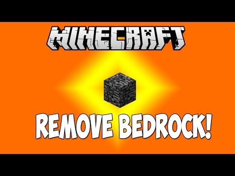 Minecraft 1.8.1: HOW TO REMOVE BEDROCK!