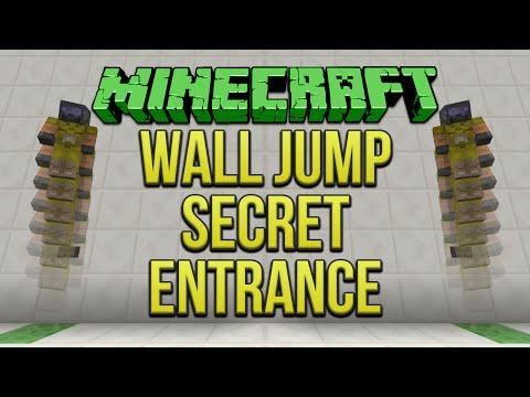 Minecraft: Wall Jump Secret Entrance (Flush) Tutorial