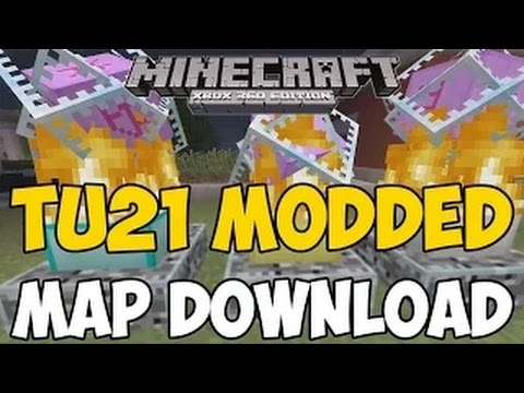 Minecraft Xbox 360/One: TU21 MODDED MAP Download! (Command Blocks, Stained Glass + MORE)