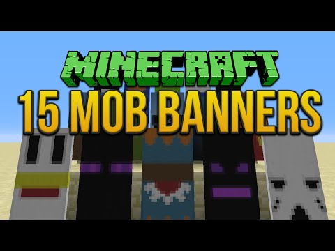 Minecraft: 15 Mob Banners Tutorial