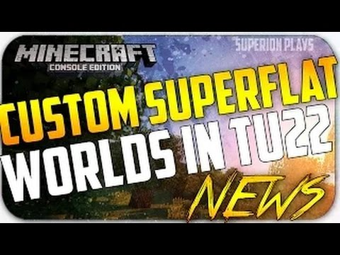 Minecraft Console NEWS: Custom Super Flat World | New confirmed info & features!