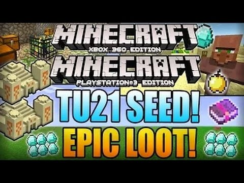 #Minecraft Xbox 360 TU21 Seeds - DIAMONDS, 3 DESERT TEMPLES, DUNGEON! (TU20 Xbox 360/PS3 Seed)