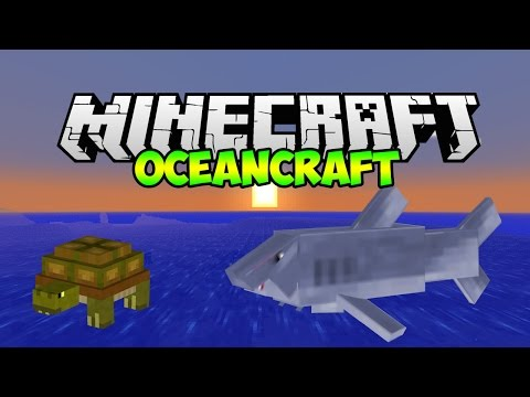 Minecraft Mods: Oceancraft Mod SHARKS AND MORE! (Minecraft 1.7.10 Mod Showcase)