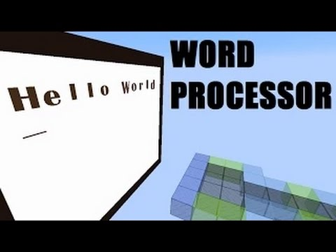 Minecraft Redstone Build: WORD PROCESSOR IN MINECRAFT!