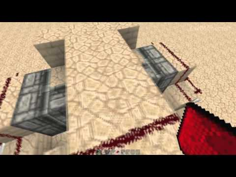 Hidden Piston Doors! [Minecraft Redstone Tutorials]