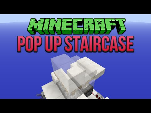 Minecraft: Pop Up Staircase Tutorial