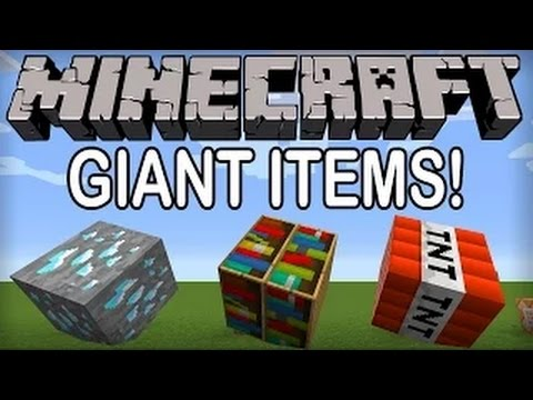 Minecraft 1.8.3: GIANT ITEMS WITHOUT MODS! (Minecraft Command Block Tip)