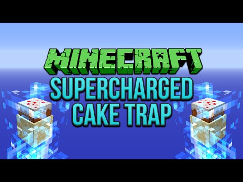 Minecraft: Supercharged Cake Trap Tutorial