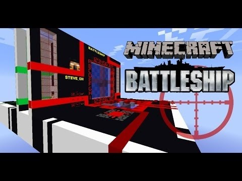 Battleships recreated in Minecraft!