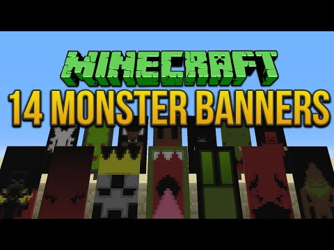 Minecraft: 14 Monsters Banners Tutorial