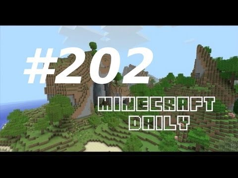 Minecraft Daily 17/02/12 (202) - MOJAM Live Stream! Wolf Racing! Particle Detector!