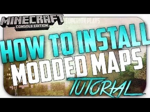 Minecraft Console: How To Download & Install Modded/Custom Maps - *NEW* Easy Method