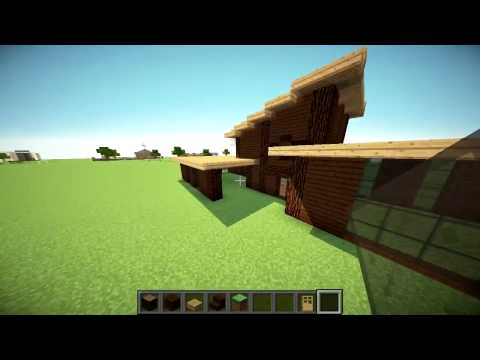 Minecraft Building Challenge: WOOD ONLY Minecraft Build Tutorial