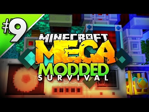 Minecraft MEGA Modded Survival #9 | THERMAL EXPANSION MACHINES! - Minecraft Mod Pack