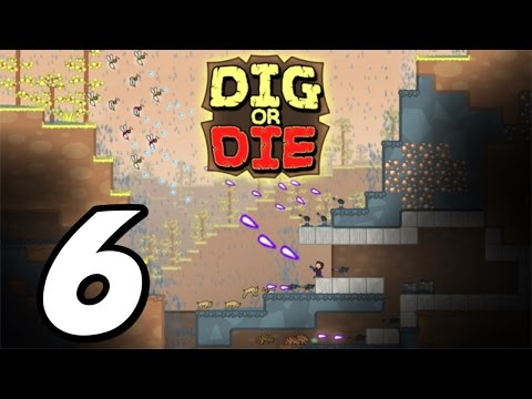 Dig or Die - Episode 6 - Teleporter & Laser Gun! (Gameplay / Walkthrough / 1080p)