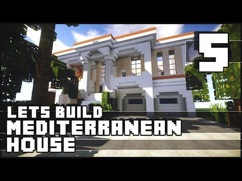 Minecraft Lets Build : Mediterranean House - Part 5