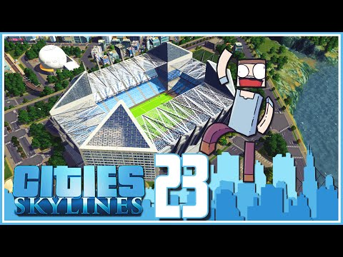 Cities Skylines - Ep.23 : Epic Modular Football Stadium!