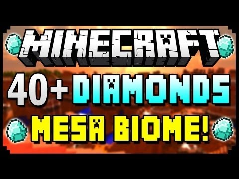 Minecraft 1.8.3 Seeds - 40+ DIAMONDS, MESA BIOME & VILLAGE AT SPAWN! - Best Minecraft Seed