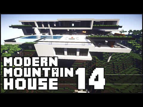 Minecraft - Modern Mountain House 14