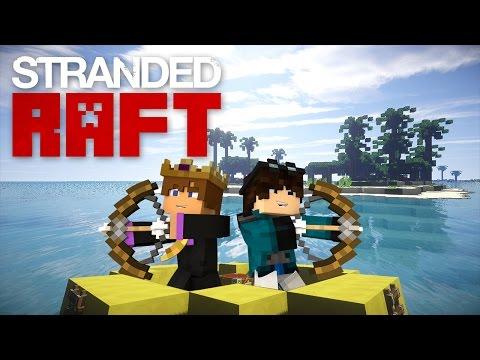 Minecraft: STRANDED RAFT #2 - PUFFERFISH TROLL! (STRANDED DEEP IN MINECRAFT)