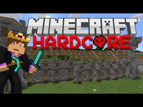 Hardcore Minecraft Survival #58 - CASTLE WALL!
