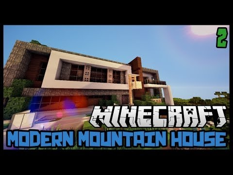 How to Build: MODERN HOUSE (Minecraft House Tutorials) Part TWO