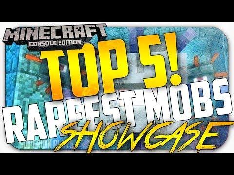 Minecraft Top 5 Rarest Mobs! - RAREST / Hardest Mobs to find in Minecraft