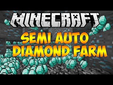 Minecraft 1.8.3: Semi Automatic Diamond Farm Chunk Regeneration Quarry