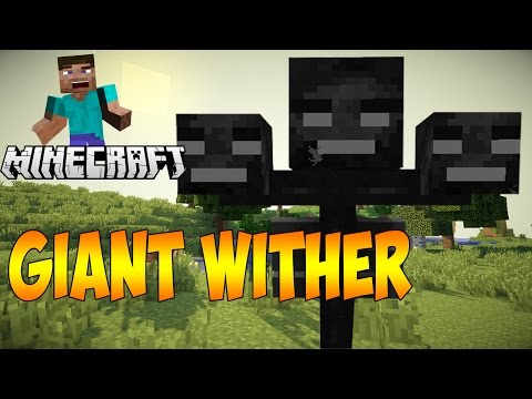 Minecraft: BIGGEST WITHER IN THE WORLD!?? (Spawn Giant Withers)