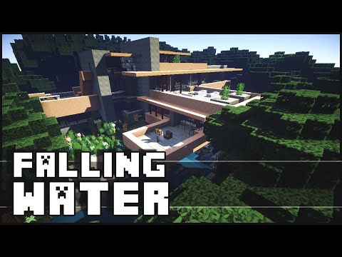 Minecraft - Falling Water House 2 (Frank Lloyd Wright)