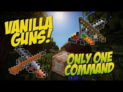 Minecraft: GUNS IN VANILLA! -SHOTGUN & Rapid Fire!- Only One Command