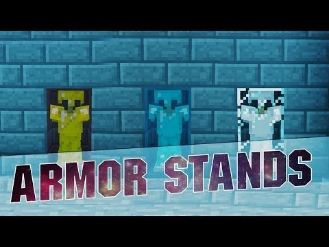 Minecraft 1.8.3 Tutorial: Armor Stands inside Glass Trick Tutorial