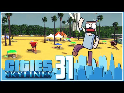 Cities Skylines - Ep.31 : The Beach, Circus & Oil Platform!