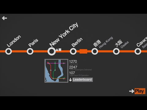 Mini Metro Three Line Challenge (New York City)