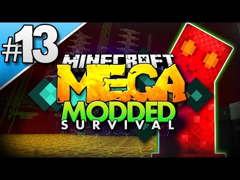 Minecraft MEGA Modded Survival #13 | NITRO CREEPER!? - Minecraft Mod Pack