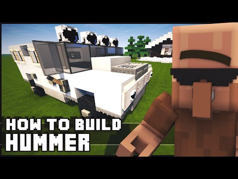 Minecraft - How to Build : Hummer / Humvee