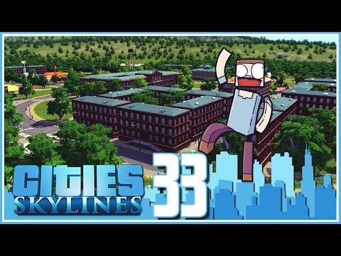 Cities Skylines - Ep.33 : The Waterpoo University!