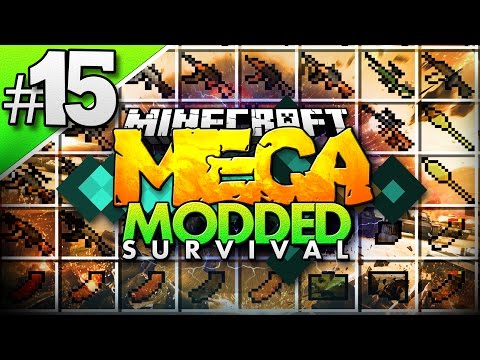 Minecraft MEGA Modded Survival #15 | GUNS AND PLANES FLANS MOD - Minecraft Mod Pack