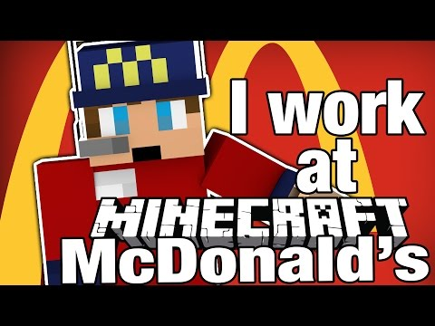 Minecraft | I WORK AT MCDONALD'S! | Order Up Vanilla Game - Minecraft Fast Food Simulator