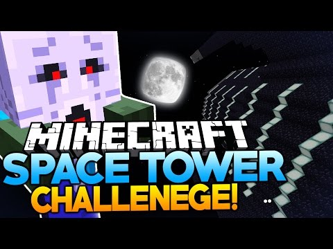 Minecraft Space Tower Challenge | GETTING EGGS-TREMELY LUCKY! (Pt1)