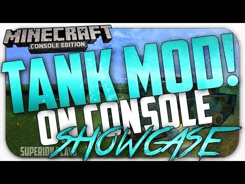 Minecraft Console: *NEW* Working Tank Mod for console!