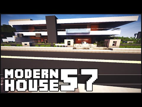 Minecraft - Modern House 57 w/ Shark Tank & Nutella Panic Room!
