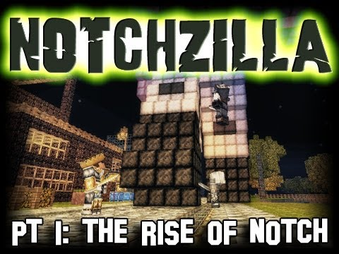 Minecraft Notchzilla Pt. 1 The Rise Of Notch (Stop Motion)