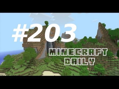 Minecraft Daily 20/02/12 (203) - MOJAM results! 5000 chickens! Import Your Map into Cinema 4D!