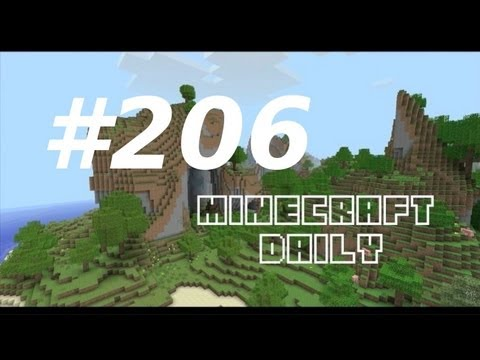 Minecraft Daily 27/02/12 (206) - New Pig Slot Machine! Iron Golem Chef! Redstone Illustrator!
