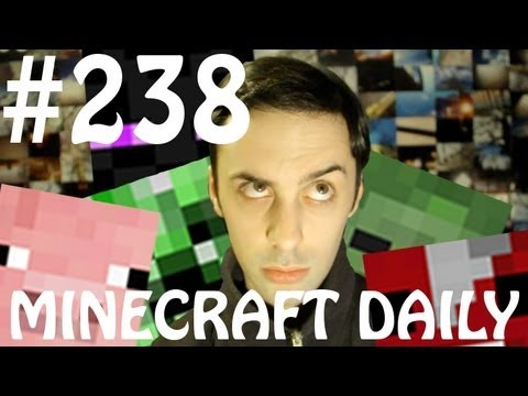 Minecraft Daily 20/04/12 (238) - Bowling Minigame! Camera/Scanner!? Nether Void Travel!