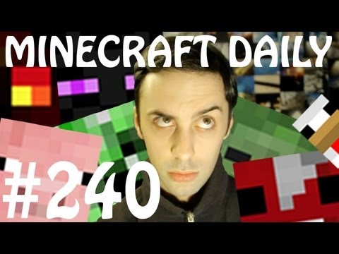 Minecraft Daily 24/04/12 (240) - Pocket Edition Crafting! Piston bridge! Extreme Run!