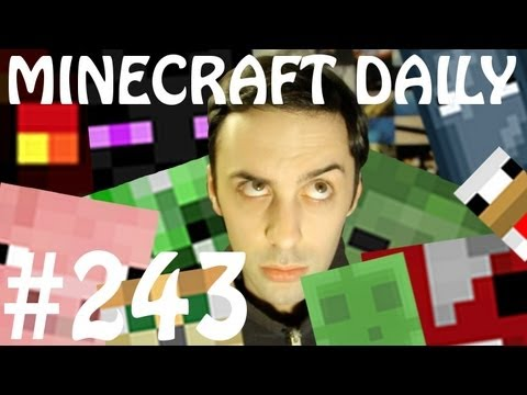 Minecraft Daily 27/04/12 (243) - Epic Rap Battle! Mining a Block! Skyjacking!