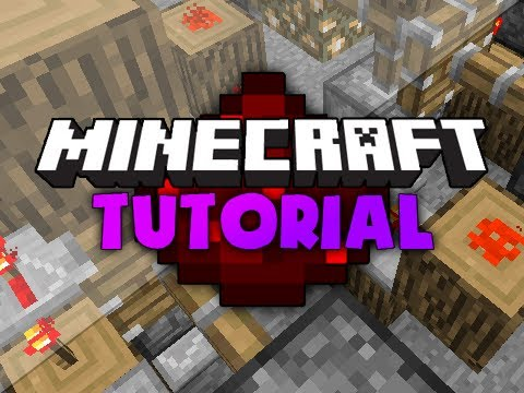 Minecraft Redstone Tutorial: AND Gates! w/ Pistons